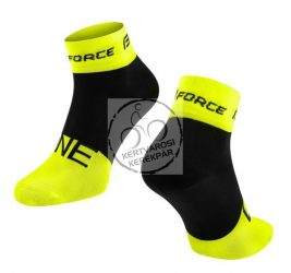 FORCE ONE sportzokni fluo-fekete