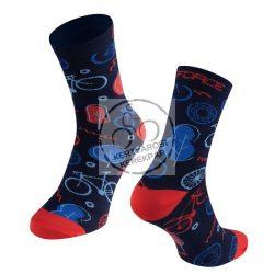 FORCE EVOKI sportzokni rózsaszín-kék
