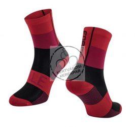 FORCE HALE sportzokni piros-fekete