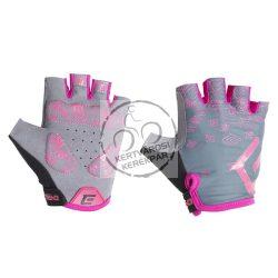EXTEND SPIREA kerékpáros kesztyű női szürke-pink
