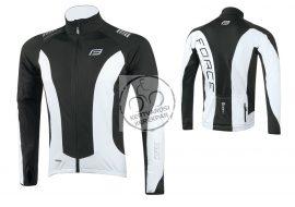 FORCE X68  PRO kerékpáros felső thermo fekete-fehér L