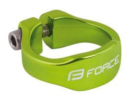 FORCE nyeregcsőbilincs alu 31,8 zöld imbuszos