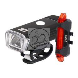 P2R NITION 10 első + hátsó lámpa készlet USB