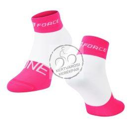 FORCE ONE sportzokni rózsaszín-fehér