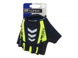 FORCE DARTS kerékpáros kesztyű fluo