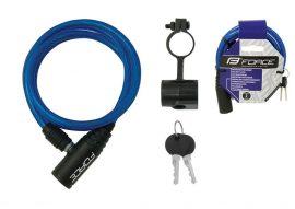 FORCE ECO spirál kerékpáros zár kulcsos 1200/8mm