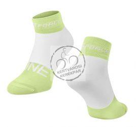 FORCE ONE sportzokni zöld-fehér