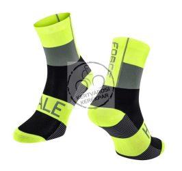 FORCE HALE sportzokni fluo-fekete-szürke